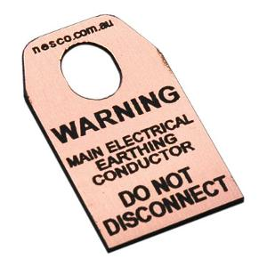 EARTH TAG MAIN EARTH CONDUCTOR TAG
