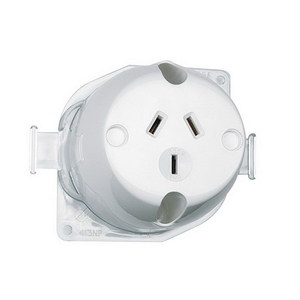 SURFACE SOCKET 3PIN 10A 250V WHITE