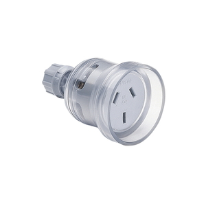SOCKET EXTENSION 3P 10A 250V H/DTY TRANS