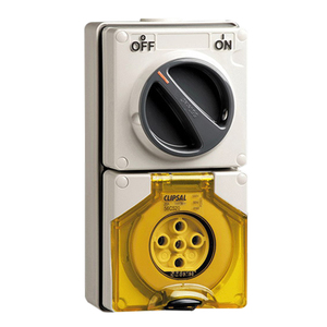 OUTLET SWITCHED IP66 5PIN 20A 500V GREY