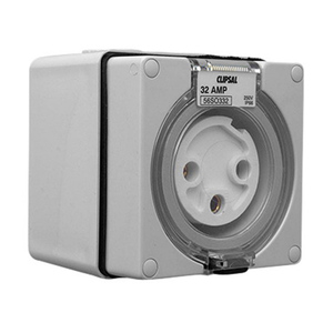 OUTLET SOCKET IP66 3PIN 32A 250V GREY