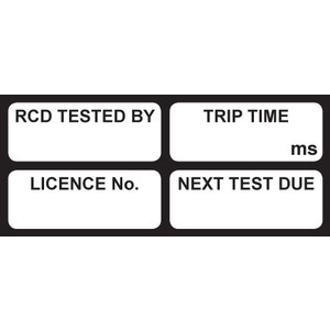 TEST TAG RCD BLACK