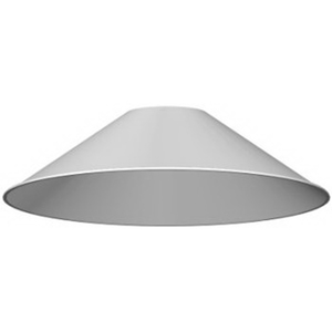 BATTEN FIX CONICAL SHADE 230MM WHITE
