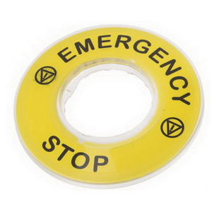 EMERG STOP 3D LEGEND PLATE