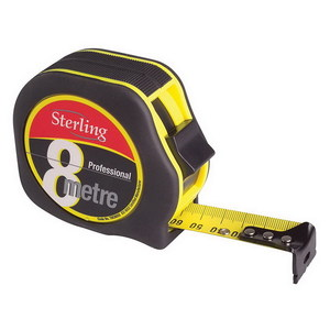 8MX25MM STERLING PROF TAPE MEASURE