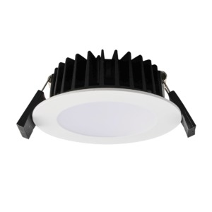 LED D/L 10W IP44 3/4/6K DIM WH