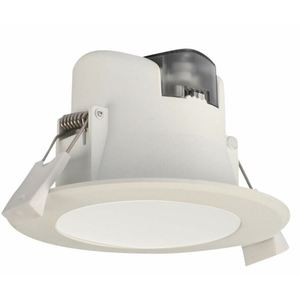 LED D/L 9W IP44 3/4/6K WH DIM