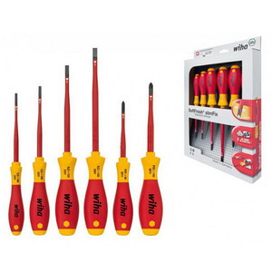 SCREWDRIVER SET SLIMFIX 6PC SLT+PH 1000V